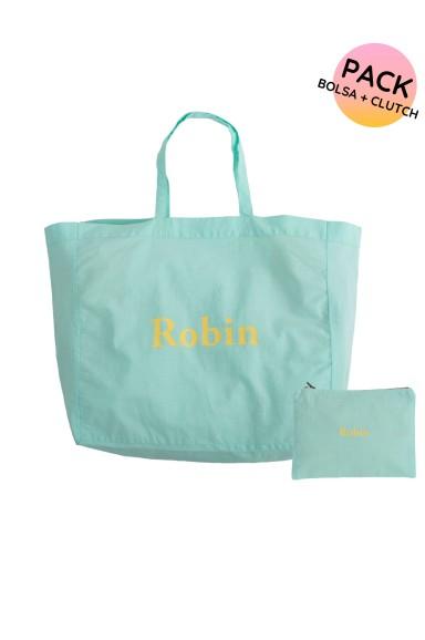 Pack: Bolsa XXL + Clutch Robin