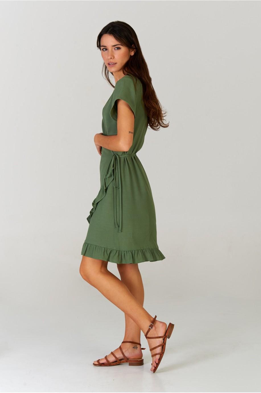 Vestido corto Khaki
