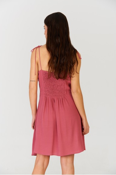 Vestido corto Marsala