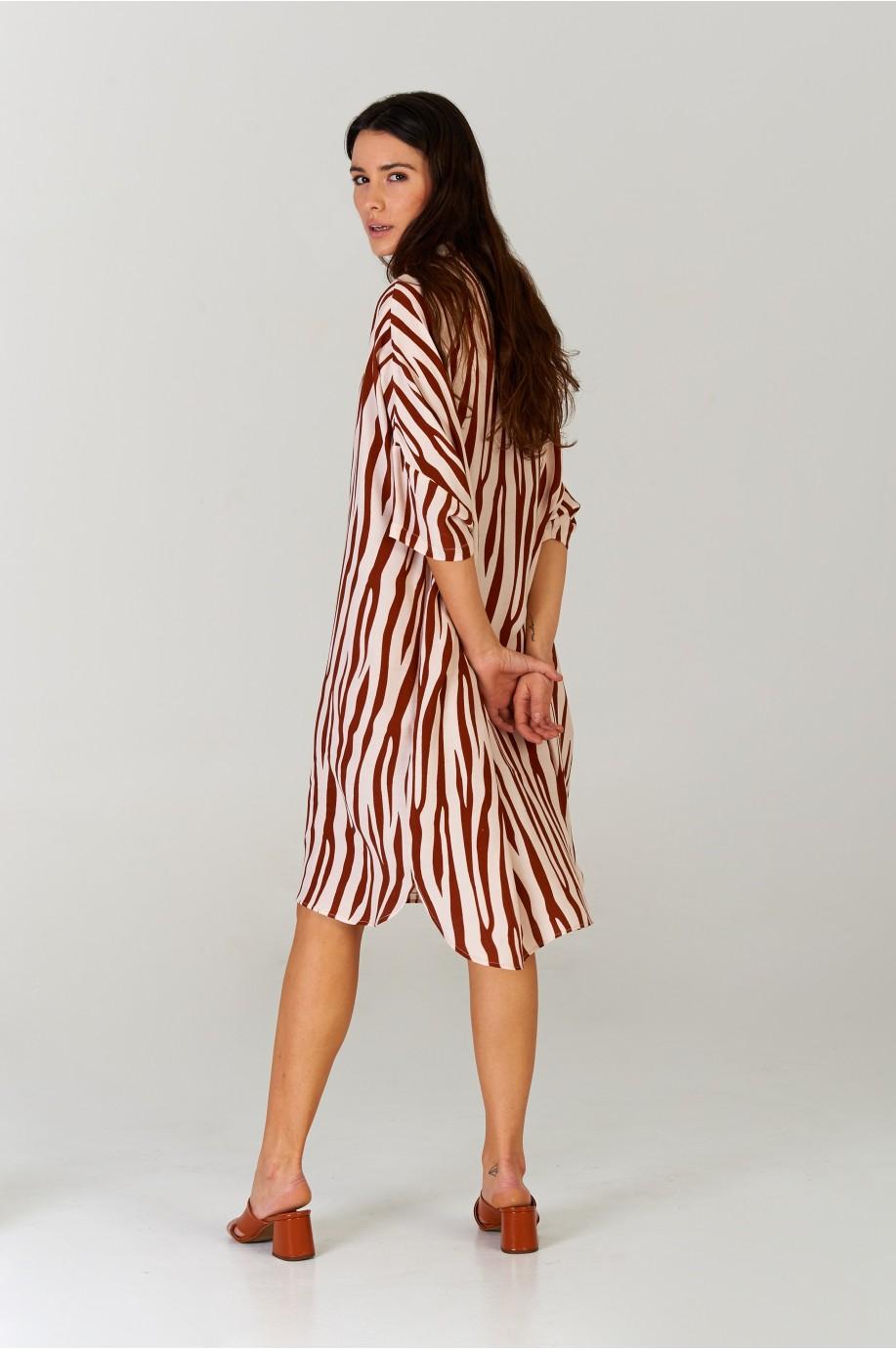 Vestido camisero Zebra