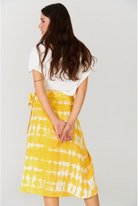 Falda larga Tie Dye Ocre