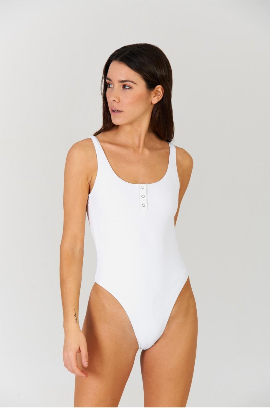 Bañador Polo Blanco