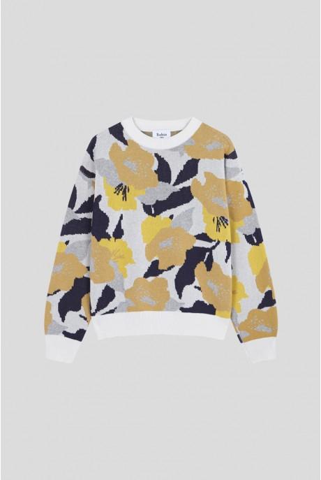 Vintage Flowered Cottage Sweater