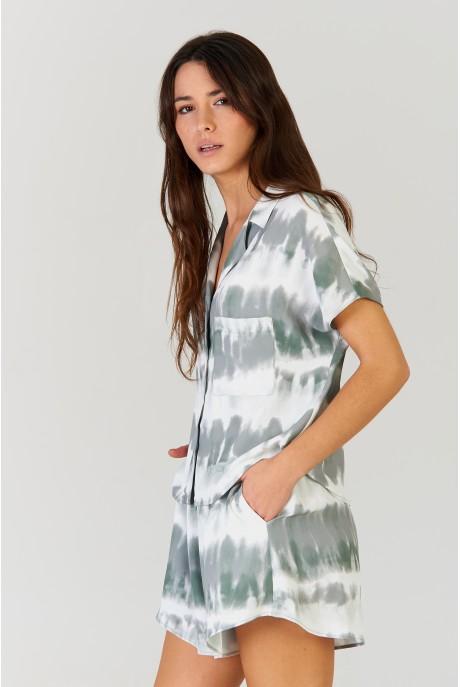 Camisa Tie Dye Khaki