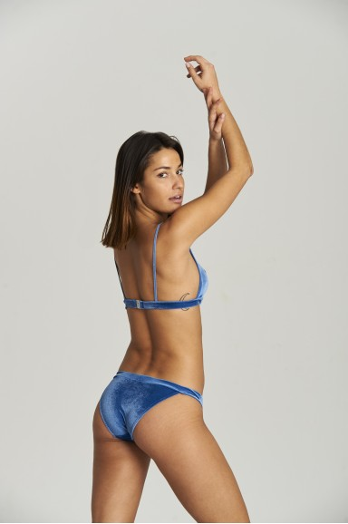 Bikini Sporty Blue Velvet