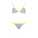 Bikini Slash Amarillo y Gris