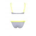 Yellow and Grey Slash Bikini
