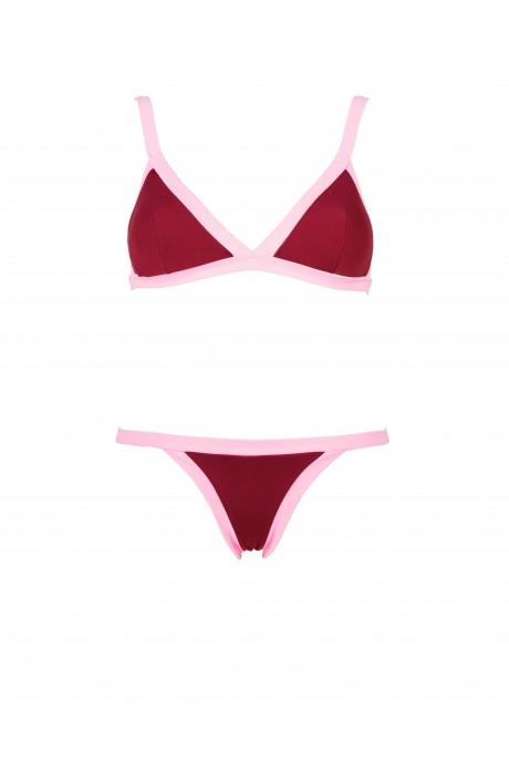 Bikini Mood Granate y Rosa