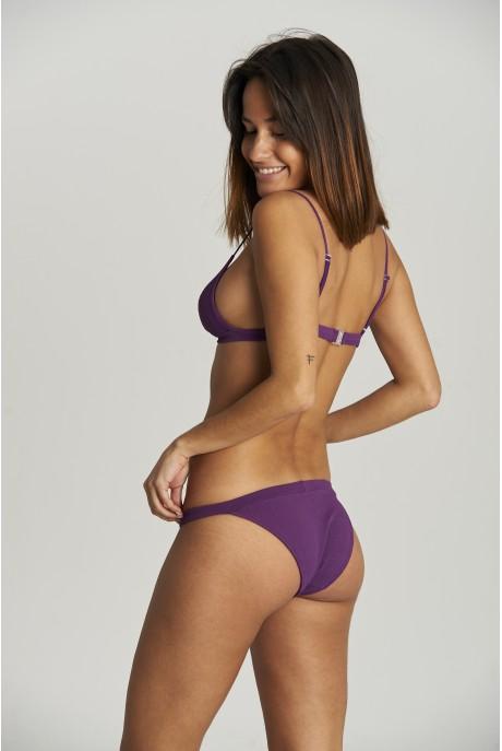 Bikini Sporty Piqué Berenjena