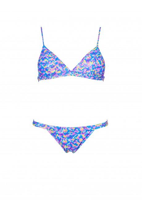 Neon Color Print Sporty Bikini