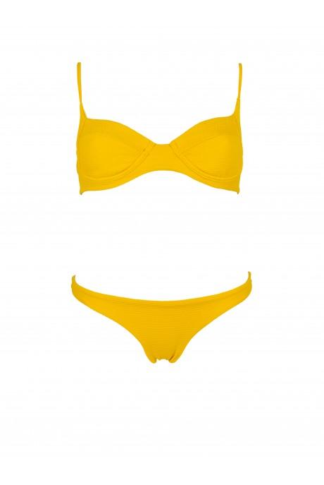 Yellow Pique Balconette Bikini