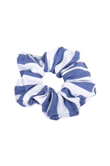 Blue Striped Hair Tie