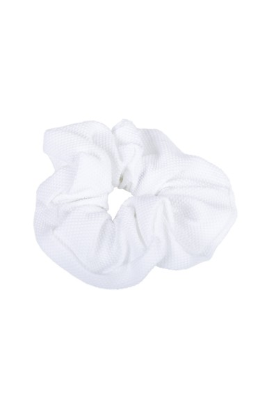 White Pique Hair Tie