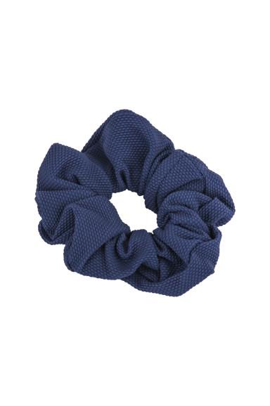 Blue Pique Hair Tie